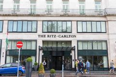 Budapest/Hungary-01 09 18- Ritz carlton w Budapest Hungary luksusowego hotelu kurorcie obraz royalty free