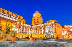 Budapest, Hungary - Royal Palace of Buda. Budapest, Hungary. Buda Castle built on Castle Hill by Magyar kings royalty free stock image