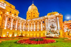 Budapest, Hungary - Royal Palace of Buda. Budapest, Hungary. Buda Castle built on Castle Hill by Magyar kings stock image