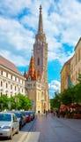 Budapest Hungary saint Matthias church on ancient Stock Photo