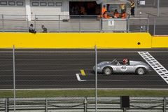Start classic car race Stock Photo