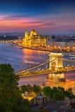 Budapest Hungary at Sunset Stock Image