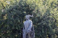 Budapest/Hungary-09 09 18: Szobor Szondi György do ¡ n de Vak Bottyà do bronze da escultura da estátua de Budapest foto de stock