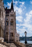Budapest, Hungary - The terrace of the Parliament Library stock photos