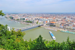 Budapest, Hungary. Top-view of Pest Stock Photography