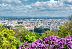 Budapest. Hungary. View of Pest, eastern part of Budapest. Hungary Stock Photography