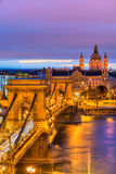 Budapest, Hungary. View of Budapest at sunset, Hungary Royalty Free Stock Photos