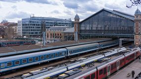 Budapest Hungary 03 15 2019 the western railway station in Budapest royalty free stock photo