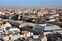 Budapest, Hungría - 8 de noviembre de 2015: Panorama de Budapest de St Stephan Basilica, Hungría Fotos de archivo libres de regalías