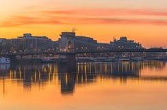 Budapest, Hungría - opinión panorámica del horizonte de Budapest con la más theBudapest, Hungría - opinión panorámica del horizon Imagen de archivo