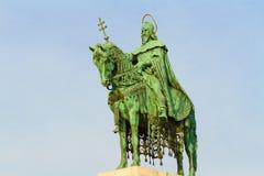 Budapest Hungría Rey Stephen Statue Fotos de archivo