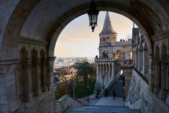 Budapest, Hungria, bastião do ` s dos pescadores foto de stock royalty free
