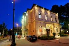 BUDAPEST, HUNGRIA - 3 DE JUNHO DE 2017: O restaurante de Gundel é um luxurio Fotos de Stock Royalty Free