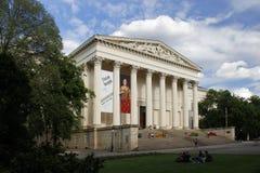 BUDAPEST/HUNGRIA - 9 DE MAIO: Museu Nacional húngaro, o 9 de maio de 2014 em Budapest/Hungria Imagens de Stock Royalty Free