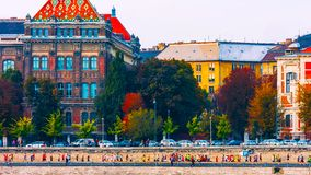 Budapest, Hungria - MAI 01, 2019: Constru??o do parlamento h?ngaro em Budapest fotografia de stock