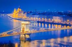 Budapest, Hungria, ponte Chain Foto de Stock Royalty Free