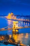 Budapest, Hungria, ponte Chain fotografia de stock