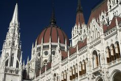 budapest hushungary parlament Royaltyfri Fotografi