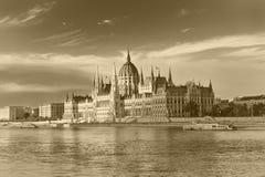 budapest husparlament Royaltyfria Foton