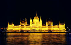 budapest husparlament Arkivfoton