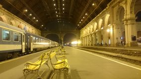 Budapest huvudsaklig station Arkivfoton