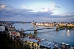 Budapest i eftermiddagen Arkivbild