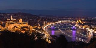 Budapest il giorno prematuro del mondo Immagine Stock
