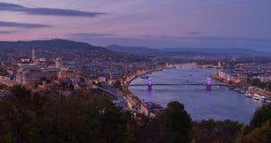Budapest il giorno prematuro del mondo Immagini Stock Libere da Diritti