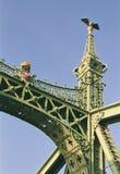 Budapest - il ponticello di libertà Fotografie Stock