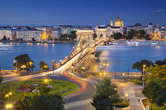 Budapest. Image of Budapest, capital city of Hungary, during twilight blue hour Royalty Free Stock Image