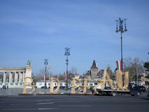 Budapest. Installation, spring festival in Budapest Royalty Free Stock Image