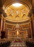 Budapest, interior of the Saint Stephen Basilica Stock Images