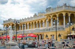 BUDAPEST - July 2015- People having thermal bath in the Szecheny Stock Images