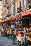 Budapest kafé Arkivbild
