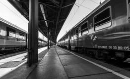 Budapest Keleti järnvägsstation Fotografering för Bildbyråer