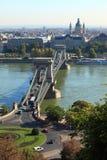 Budapest-Kettenbrücke Stockfoto