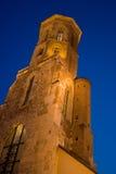 Budapest-Kontrollturm nachts Lizenzfreie Stockfotos