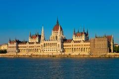 budapest korridorhungary parlament Royaltyfri Fotografi