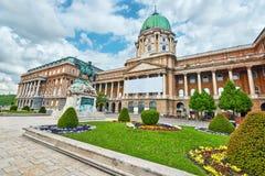Budapest Królewski kasztel - podwórze Royal Palace w Budapest zdjęcia stock