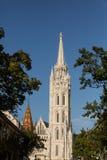 budapest kyrkliga hungary matthias Royaltyfri Foto