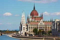 Budapest, la costruzione del Parlamento Fotografie Stock Libere da Diritti