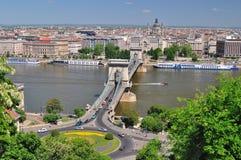 Budapest. La Hongrie. Paysage urbain Photographie stock libre de droits