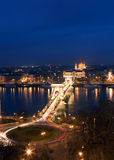 Budapest la nuit Images libres de droits