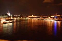 Budapest la nuit Image libre de droits