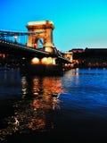 Budapest lanchid przy latem Zdjęcia Royalty Free