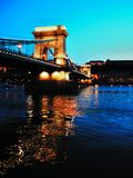 Budapest lanchid at the summer Royalty Free Stock Photos