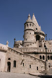 Budapest landmark. Famous landmark in Budapest - Fishermen's Bastion on Buda Hill Royalty Free Stock Photo