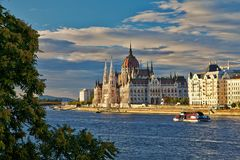 Budapest Hungarian Parliament building on the Danube Royalty Free Stock Photos