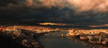 Budapest landskap royaltyfri bild