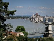 Budapest landskap fotografering för bildbyråer